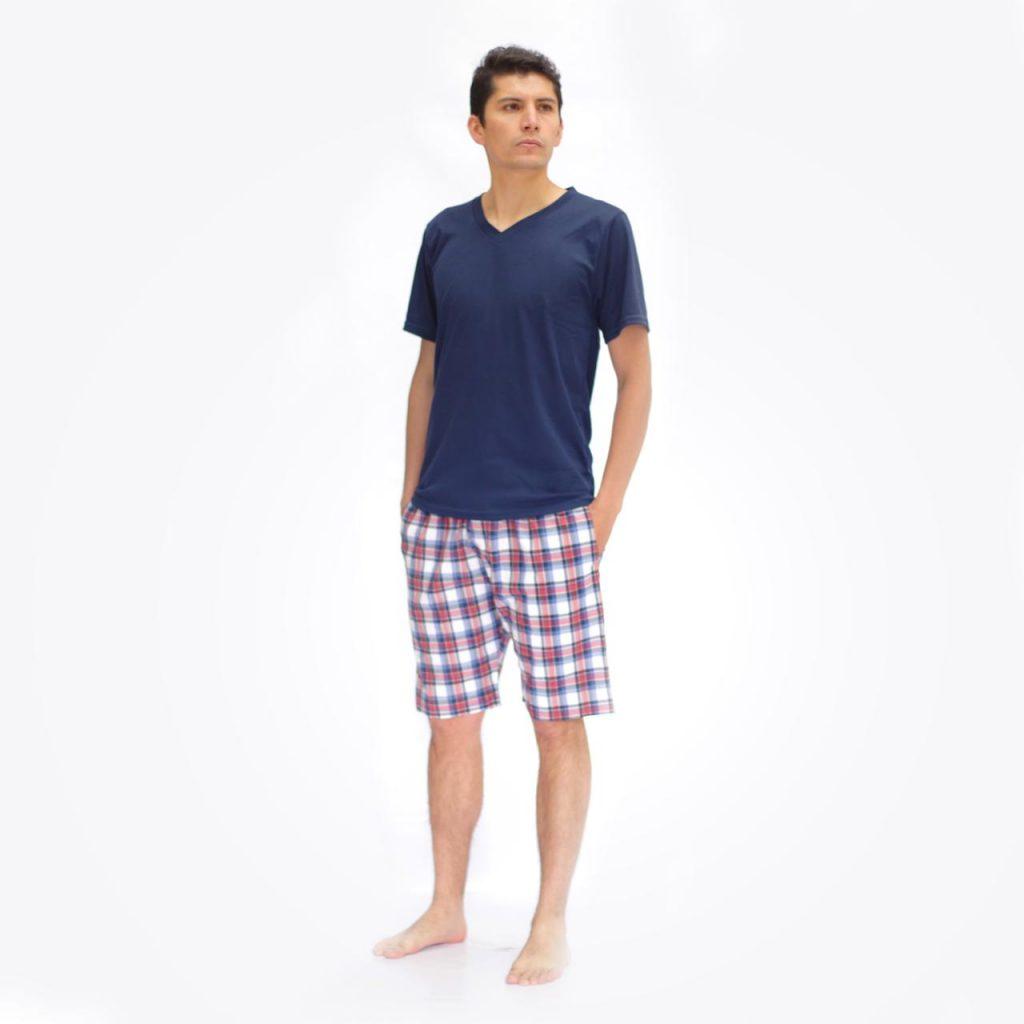 Pijama hombre pantalón corto