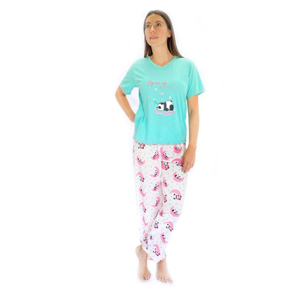 Pijama Mujer Manga Corta